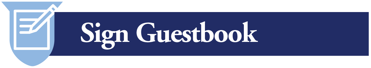 sign the guestbook button